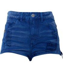 shorts john john boy atlantico 3d feminino (azul marinho, 50)