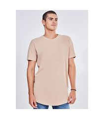camiseta alongada malha crepe