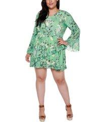 belldini black label plus size floral dress