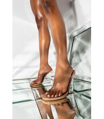 akira cape robbin ocean eyes wedge heeled pvc sandal