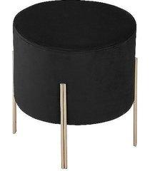 stołek podnóżek pufa czarna