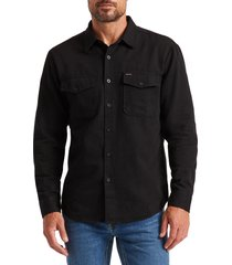 brixton davis reserve button-up shirt, size medium in black at nordstrom