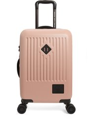 herschel supply co. small trade 23-inch rolling suitcase - pink