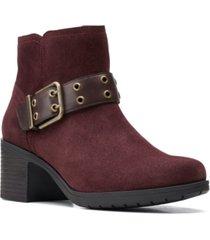 clarks hollis star buckle booties women's shoes