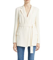 theory women's belted blazer - fire red - size 8