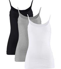 top (pacco da 3) (bianco) - bpc bonprix collection