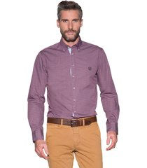 campbell casual shirt met lange mouwen bordeaux