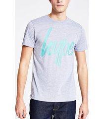 mens hype grey logo short sleeve t-shirt