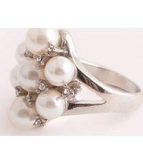 anillo con perlas.-uni