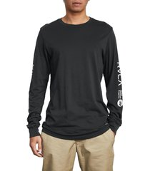 men's rvca anp long sleeve t-shirt, size medium - black