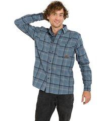 camisa manga larga cooper azul marino merrell