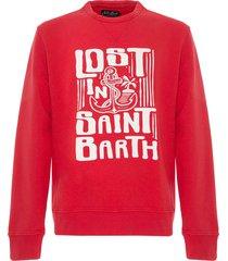 mc2 saint barth white sweatshirt lost in saint barth