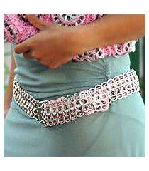 soda pop-top belt, 'pink chain mail' (brazil)