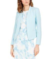 nine west shawl-collar crepe jacket