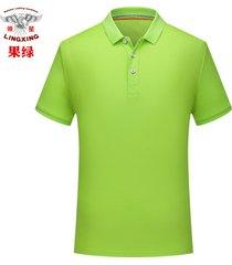 camiseta de manga corta con solapa de hombre bordado