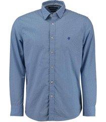 overhemd kent collar blauw