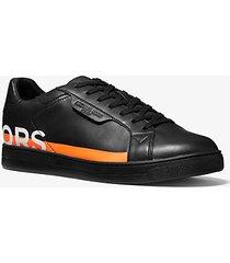 mk sneaker keating in pelle con stampa - nero (nero) - michael kors