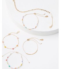 loft daisy beaded bracelet set