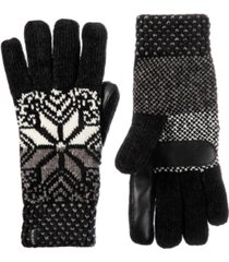 isotoner signature women's lined chenille fair isle touchscreen glove
