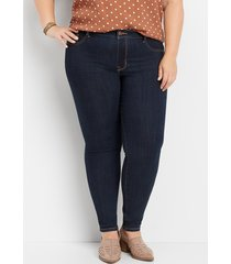 maurices plus size womens denimflex™ high rise rinse wash jegging blue