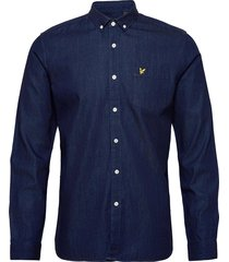 denim shirt overhemd casual blauw lyle & scott