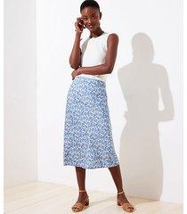 loft floral pull on midi skirt