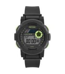 relógio digital mormaii masculino - mo90818c preto