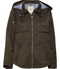 jackets outdoor woven zomerjas dunne jas groen esprit casual