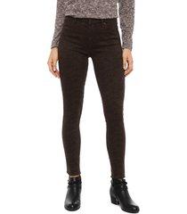jeans tentation print pitillo marrón - calce ajustado