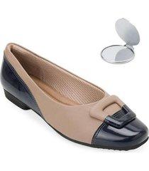 sapato comfort piccadilly e espelho pd20-2510 - feminino