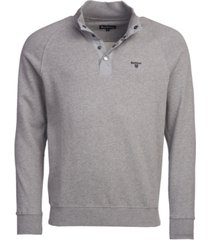 barbour men's snap-close cotton sweatshirt