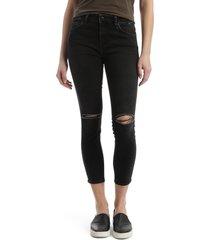 women's mavi jeans tess ripped stretch crop skinny jeans