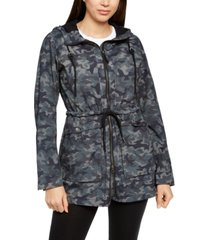 columbia women's west bluff printed hooded jacket