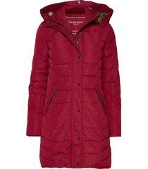 down coat gevoerde lange jas rood ilse jacobsen