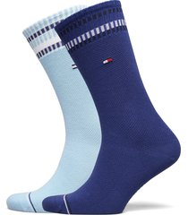th men sock 2p new pete underwear socks regular socks blå tommy hilfiger