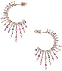 eye candy la women's 18k goldplated & crystal drop earrings