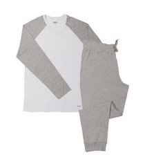 pijama inverno masculino blusa manga longa mash