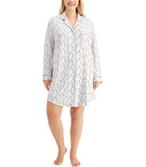 charter club plus sueded super soft knit sleepshirt nightgown, created for macy's