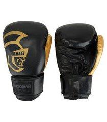 luvas de boxe pretorian black line - 16 oz - adulto