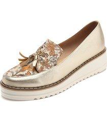 zapato emilia borlas dorado folia