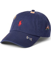 polo ralph lauren men's embroidered cotton chino ball cap