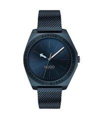 relógio hugo boss masculino aço azul - 1530109