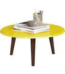 mesa de centro móveis bechara brilhante amarelo