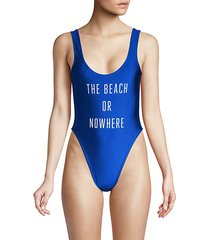 one-piece graphic swimsuit