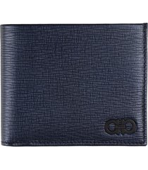 salvatore ferragamo gancini leather flap-over wallet