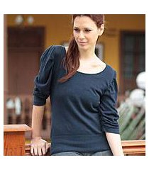 cotton top, 'cuzco navy empress' (peru)