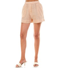wayf naima shorts, size x-large in peach vines at nordstrom