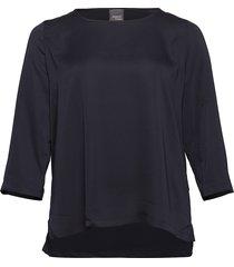 beato blouse lange mouwen blauw persona by marina rinaldi