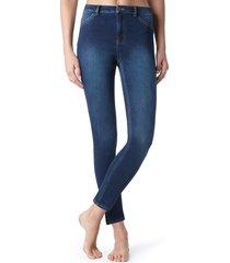 calças jegging de corte justo e sexy - jeans