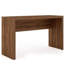 mesa escritório nogal me4135 tecno mobili videira marrom